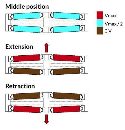 Different actuator designs
