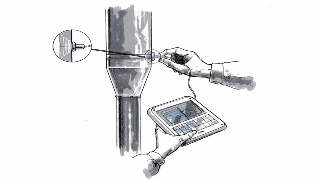 Ultrasonic non-destructive testing